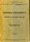 The Seventy-second Annual Catalogue of Denison University for the year 1902 1903