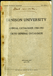 The Seventieth Annual Course Catalogue of Denison University for the year 1900 1901