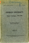 The Seventy-Fourth Annual Catalogue of Denison University for the year 1904-1905
