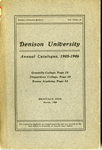The Seventy-Fifth Annual Catalogue of Denison University for the year 1905-1906