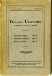 The Seventy-Sixth Annual Catalogue of Denison University for the year 1906-1907