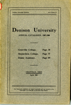 The Seventy-Seventh Annual Catalogue of Denison University for the year 1907-1908