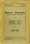 The Seventy-Eighth Annual Catalogue of Denison University for the year 1908-1909