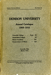 The Seventy-Ninth Annual Catalogue of Denison University for the year 1909-1910