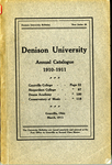 The Eightieth Annual Catalogue of Denison University for the year of 1910-1911