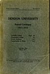 The Eighty-First Annual Catalog of Denison University for the year 1911-1912