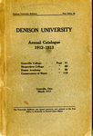 The Eighty-Second Annual Catalogue of Denison University for the year 1912-1913