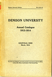 The Eighty-Third Annual Catalogue of Denison University for the year 1913-1914