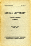 The Eighty-Fourth Annual Catalogue of Denison University for the year 1914-1915
