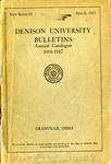 The Eighty-Sixth Annual Catalogue of Denison University for the year 1916-1917