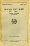 The Eighty-Seventh Annual Catalogue of Denison University for the year 1917-1918
