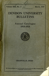 The Eighty-Eighth Annual Catalogue of Denison University for the year 1918-1919