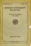 The Ninetieth Annual Catalogue of Denison University for the year 1919-1920