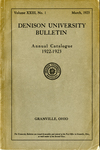 The Ninety-second Annual Catalogue of Denison University for the year 1922-1923