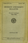 The Ninety-fifth Annual Catalogue of Denison University for the year 1925-1926
