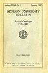 The Ninety-sixth Annual Catalogue of Denison University for the year 1926-1927