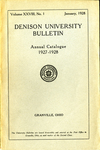 The Ninety-seventh Annual Catalogue of Denison University for the year 1927-1928