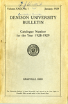 Denison University Bulletin The Ninety-eighth Catalogue Number for the year 1928-1929