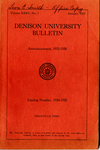Denison University A College of Liberal Arts Founded 1831 Catalog Number 1934-1935