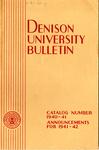 Denison University Bulletin Catalog Number 1940-1941 Announcements for 1941-1942
