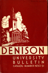Bulletin of Denison University Granville, Ohio 1950-1951