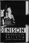 Bulletin of Denison University Granville, Ohio 1951-1952