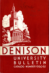 Denison University Bulletin, Granville, Ohio 1960-1962, 130th and 131st Academic Years