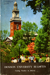 Denison University Bulletin, A College of Liberal Arts and Sciences, Founded in 1831, 133rd Academic Year - 1963-64