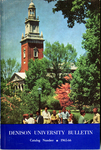 Denison University Bulletin, A College of Liberal Arts and Sciences, Founded in 1831, 135th Academic Year - 1965-66