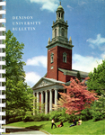 Denison University Bulletin, A College of Liberal Arts and Sciences Founded in 1831, 139th Academic Year - 1969-70