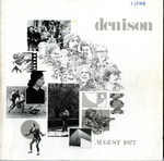 Denison University Bulletin, A College of Liberal Arts and Sciences Founded in 1831, 147th Academic Year - 1977-78