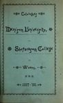 Fifty-Seventh Annual Catalogue of the Officers and Students of Denison University, 1887-1888